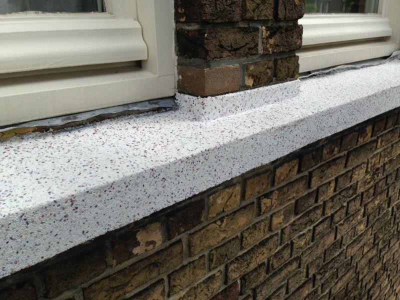 latei/dorpels granietpleister incl. coating